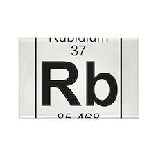 Element 37 - Rb (rubidium) - Full Rectangle Magnet