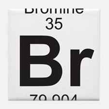 Element 35 - Br (bromine) - Full Tile Coaster