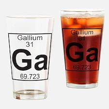 Element 31 - Ga (gallium) - Full Drinking Glass