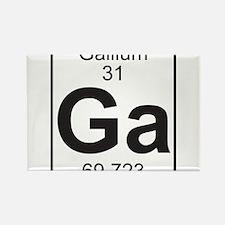 Element 31 - Ga (gallium) - Full Rectangle Magnet