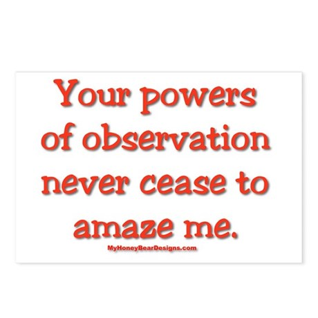 Your Powers Of Observation Ne Postcards (Package o