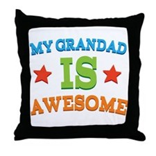 My Grandad Is Awesome Throw Pillow