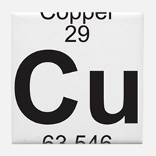 Element 29 - Cu (copper) - Full Tile Coaster