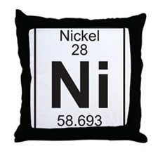 Element 28 - Ni (Nickel) - Full Throw Pillow
