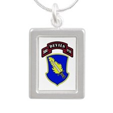 504th PIR Silver Portrait Necklace