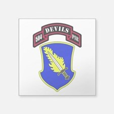 "504th PIR Square Sticker 3"" x 3"""
