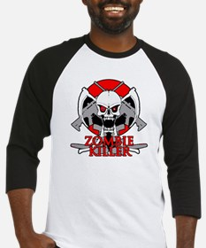 Zombie killer red Baseball Jersey