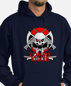 Zombie killer red Hoodie (dark)