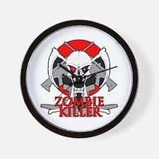Zombie killer red Wall Clock
