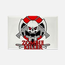 Zombie killer red Rectangle Magnet
