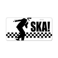 SKA On Aluminum License Plate
