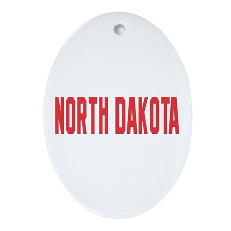 North Dakota Oval Ornament