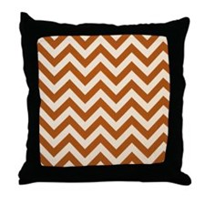 Rust Chevron Zigzags Throw Pillow