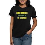 Ghost Hunting Season Women's Dark T-Shirt