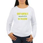 Ghost Hunting Season Women's Long Sleeve T-Shirt