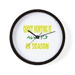 Ghost Hunting Season Wall Clock