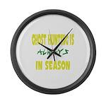 Ghost Hunting Season Large Wall Clock