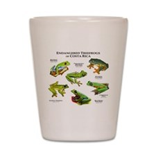 Endangered Tree Frogs of Costa Rica Shot Glass