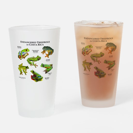 Endangered Tree Frogs of Costa Rica Drinking Glass