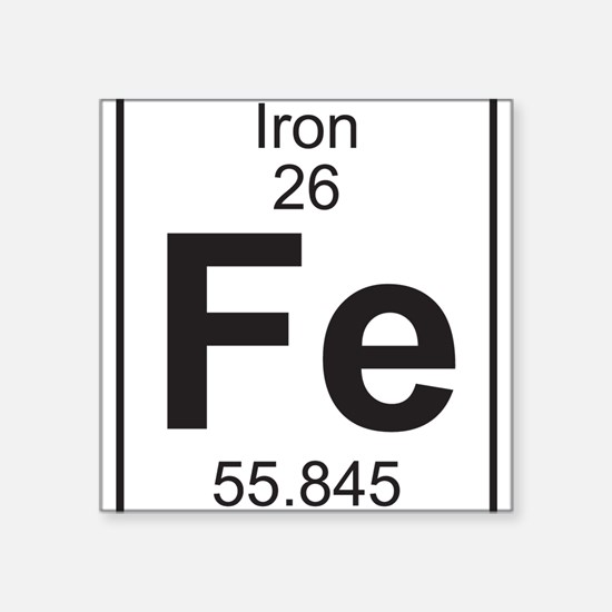 Element 26 - Fe (iron) - Full Sticker