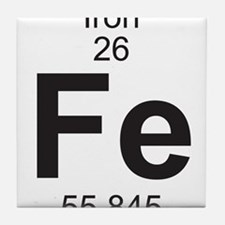 Element 26 - Fe (iron) - Full Tile Coaster