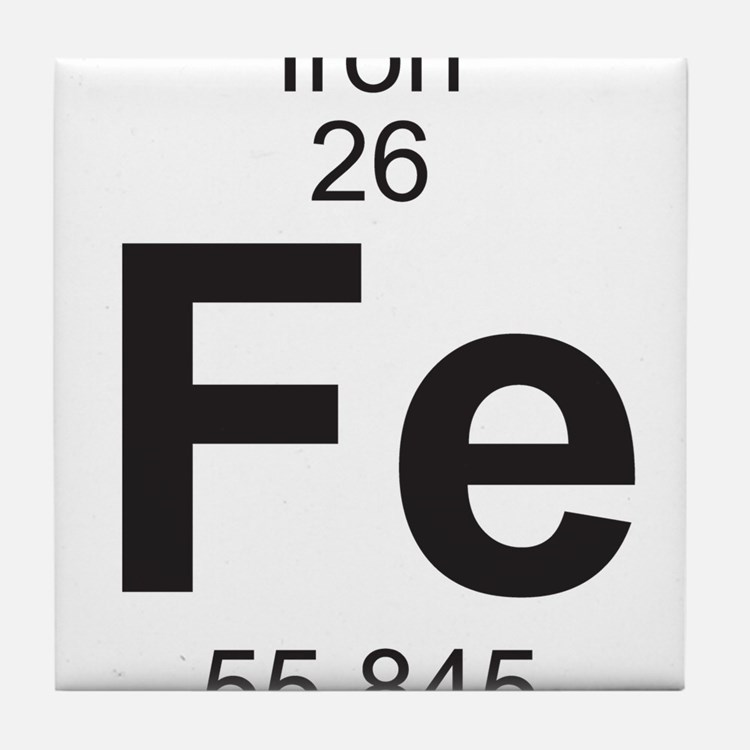 Periodic table iron coasters cork puzzle tile coasters cafepress - Iron on the periodic table ...