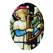 Musical Angel by William Morris Oval Ornament