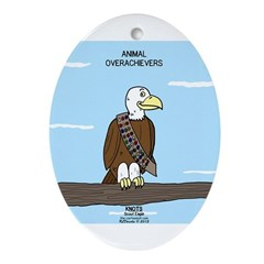 Animal Overachievers - Scout Eagle Ornament (Oval)