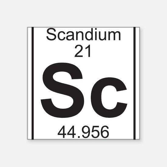 Element 21 - Sc (scandium) - Full Sticker