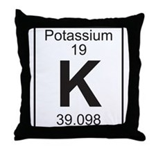 Element 19 - K (potassium) - Full Throw Pillow