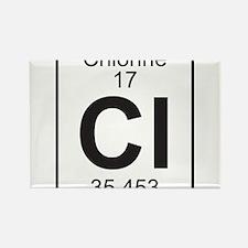 Element 17 - Cl (chlorine) - Full Rectangle Magnet