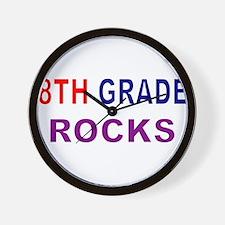 8TH GRADE ROCKS Wall Clock