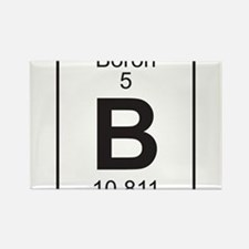 Element 5 - B (boron) - Full Rectangle Magnet