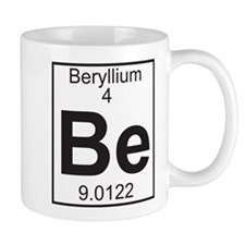 Element 4 - Be (beryllium) - Full Small Mug