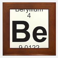 Element 4 - Be (beryllium) - Full Framed Tile