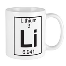 Element 3 - Li (lithium) - Full Small Mugs