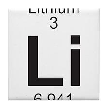 Element 3 - Li (lithium) - Full Tile Coaster
