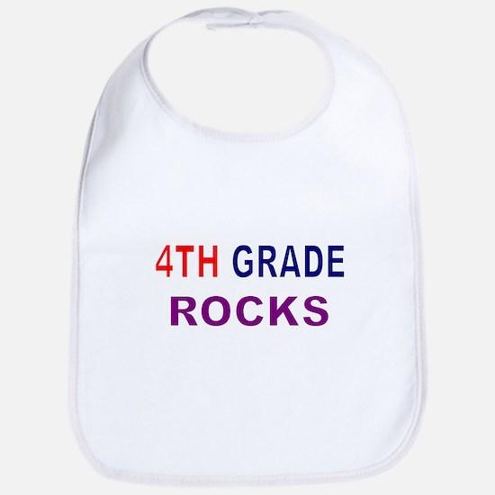 4TH GRADE ROCKS Bib