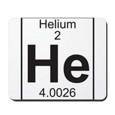 Element 2 - He (helium) - Full Mousepad
