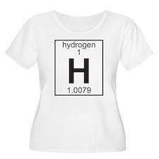 Element 1 - H (hydrogen) - Full Plus Size T-Shirt