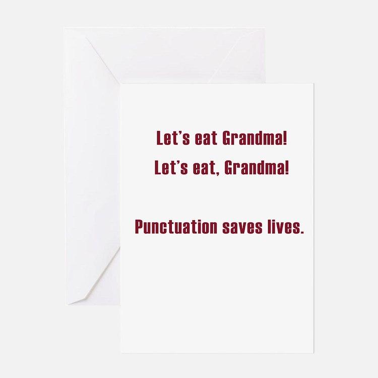 Lets eat Grandma Greeting Card