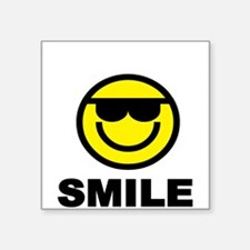 SMILE with Smiley face Sticker