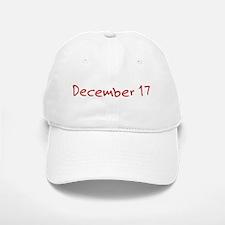 December 17 Baseball Baseball Cap