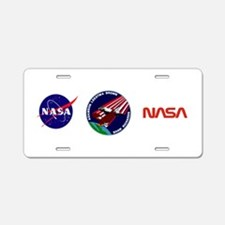 STS 28 Columbia Aluminum License Plate