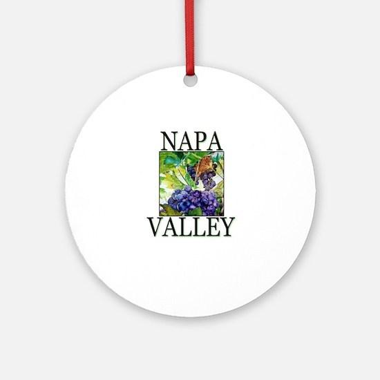 Napa Valley Ornament (Round)