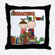 Reading is Fun Throw Pillow