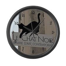 Le Chat Noir Paris Large Wall Clock