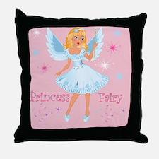 Princess Fairy On Pink Throw Pillow