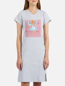 Princess Fairy On Pink Women's Nightshirt