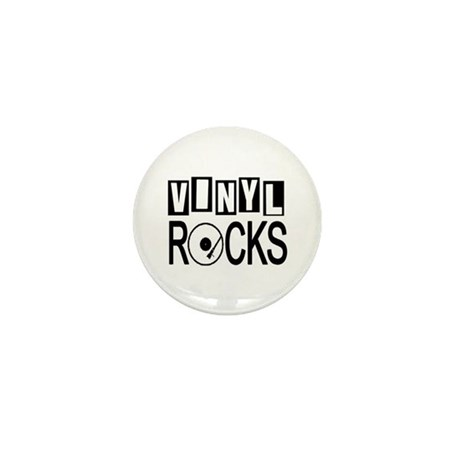 VINYL ROCKS Mini Button
